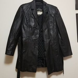 EUC Bermans leather black jacket